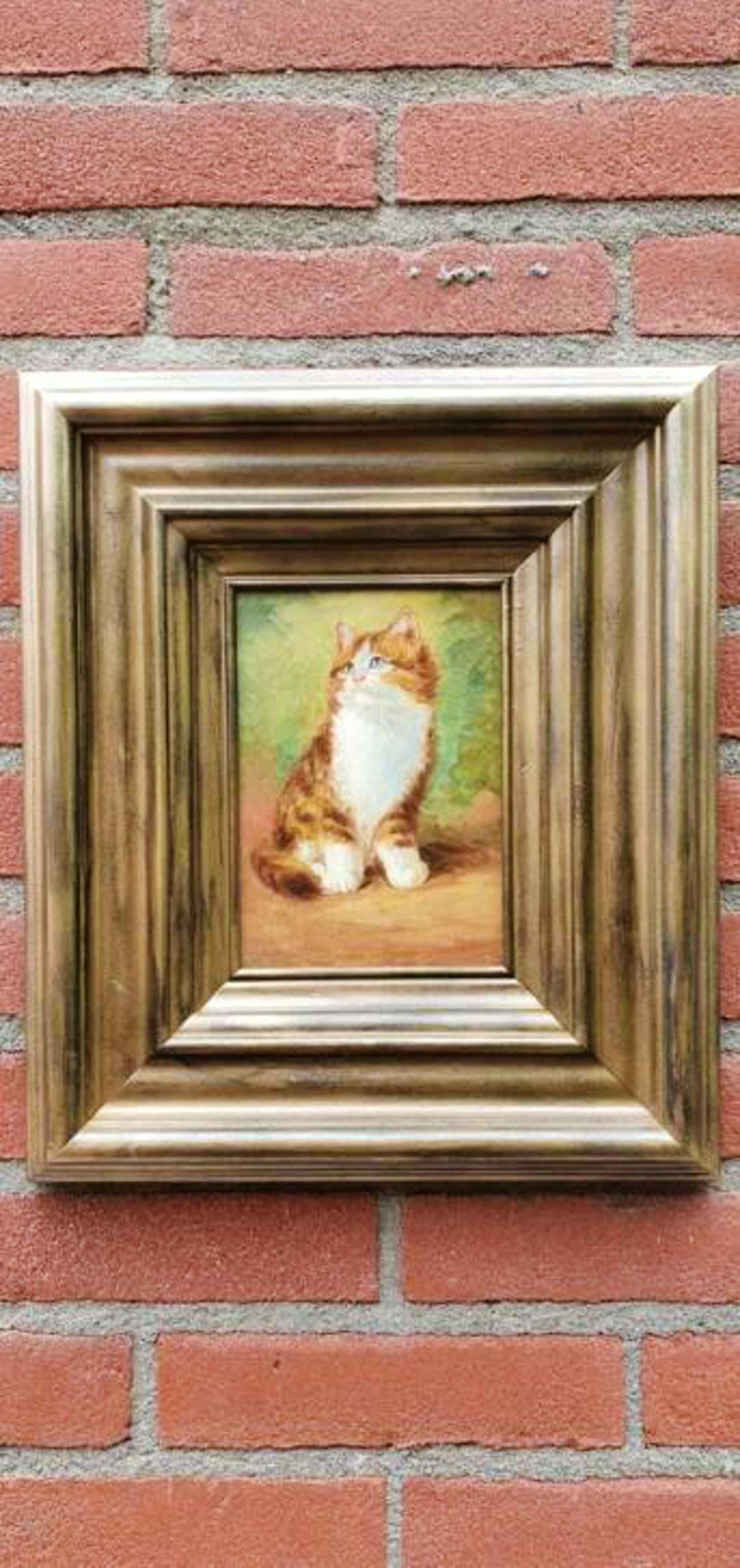 Jan Hovener - laatste kans : schilderijtje op paneel van een rode poes in heel goede staat kopen? Bied vanaf 129!