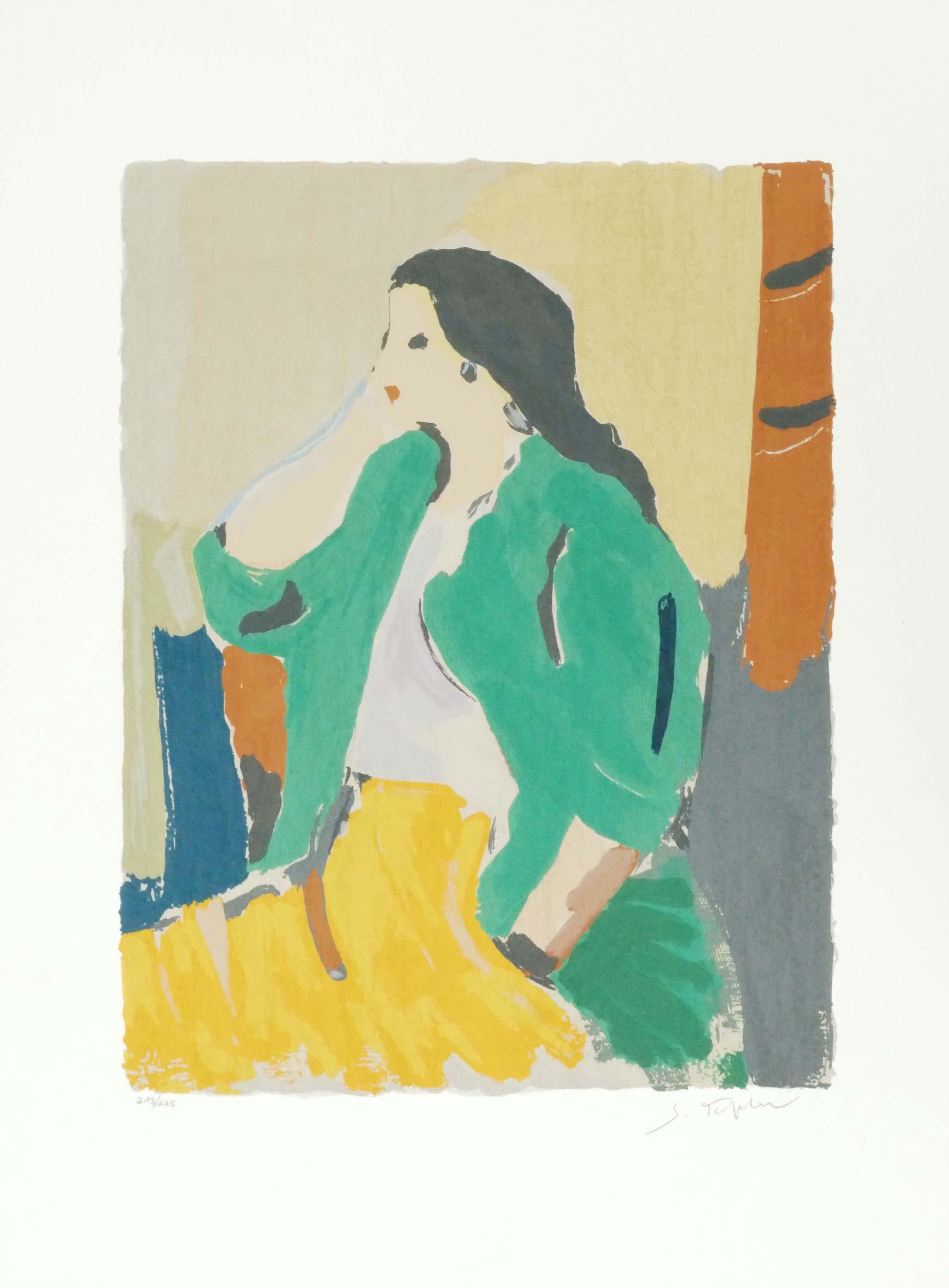 Samuel Tepler - Woman in a yellow skirt kopen? Bied vanaf 250!