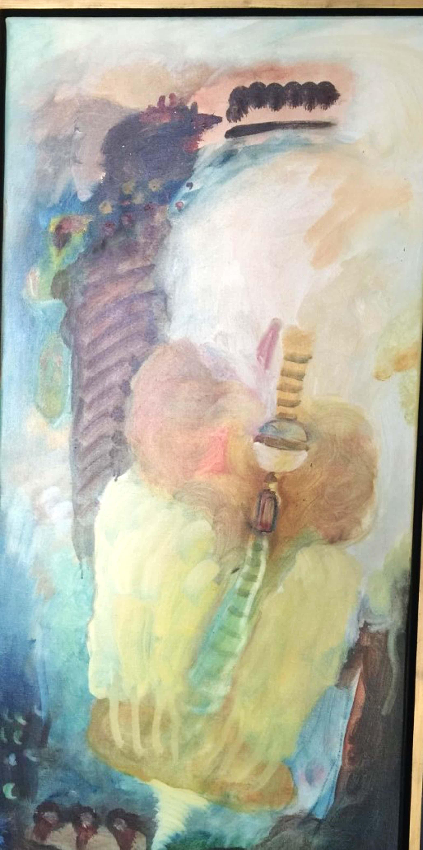 """Liesbeth Rahder - """"Compositie 7"""" - origineel en groot werk uit 1992 kopen? Bied vanaf 150!"""