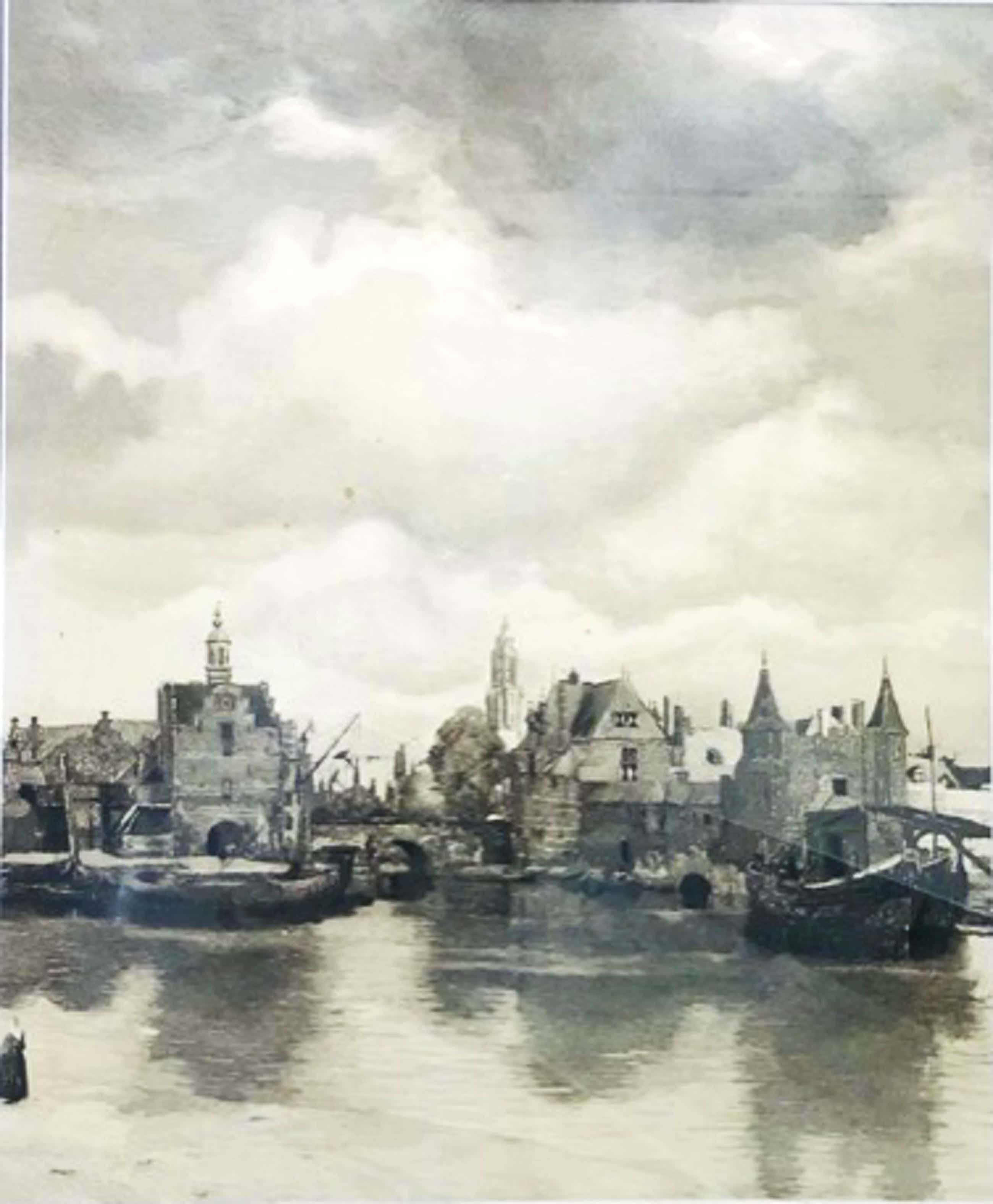 Johannes Graadt van Roggen - Zicht op Delft naar J Vermeer kopen? Bied vanaf 100!