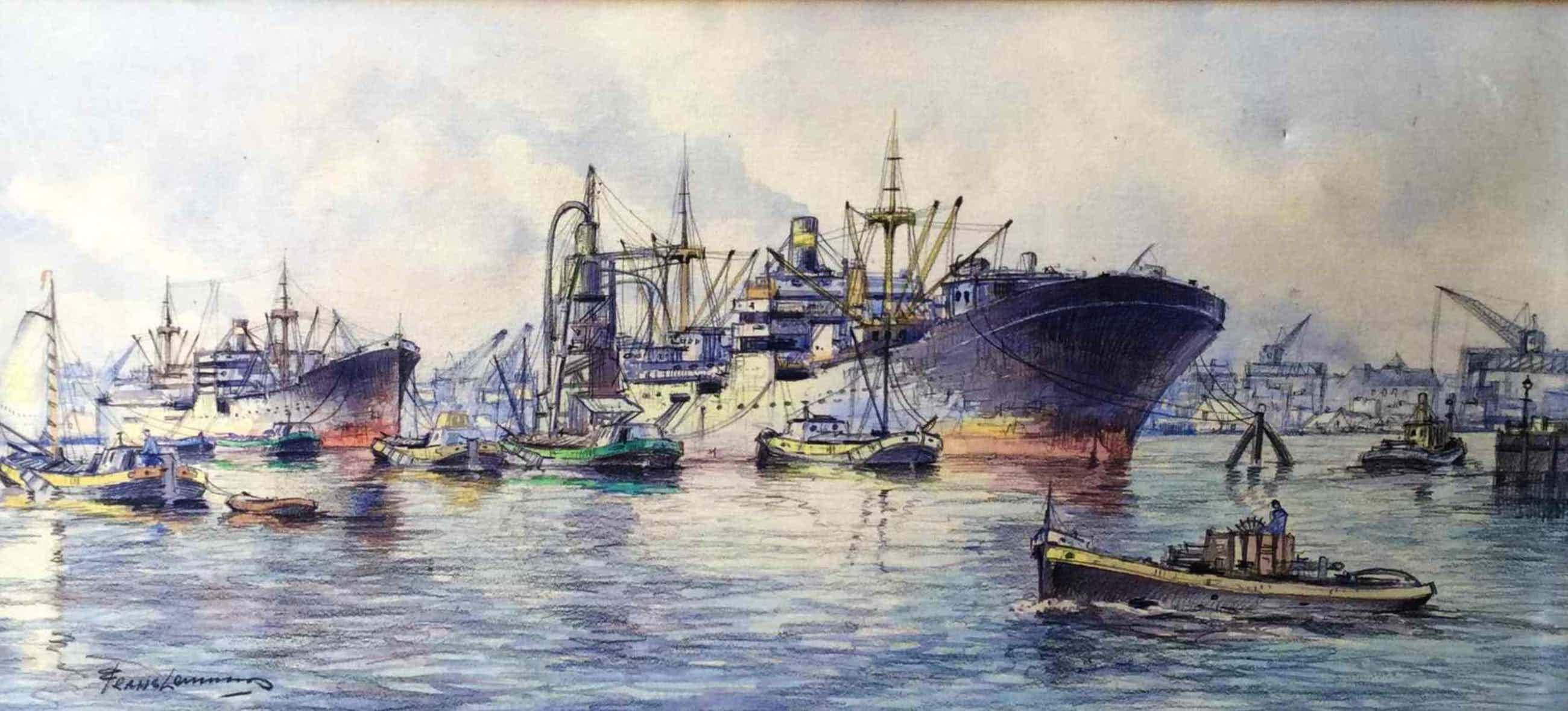 Frans Lammers - C4165-2, Haven van Rotterdam kopen? Bied vanaf 50!