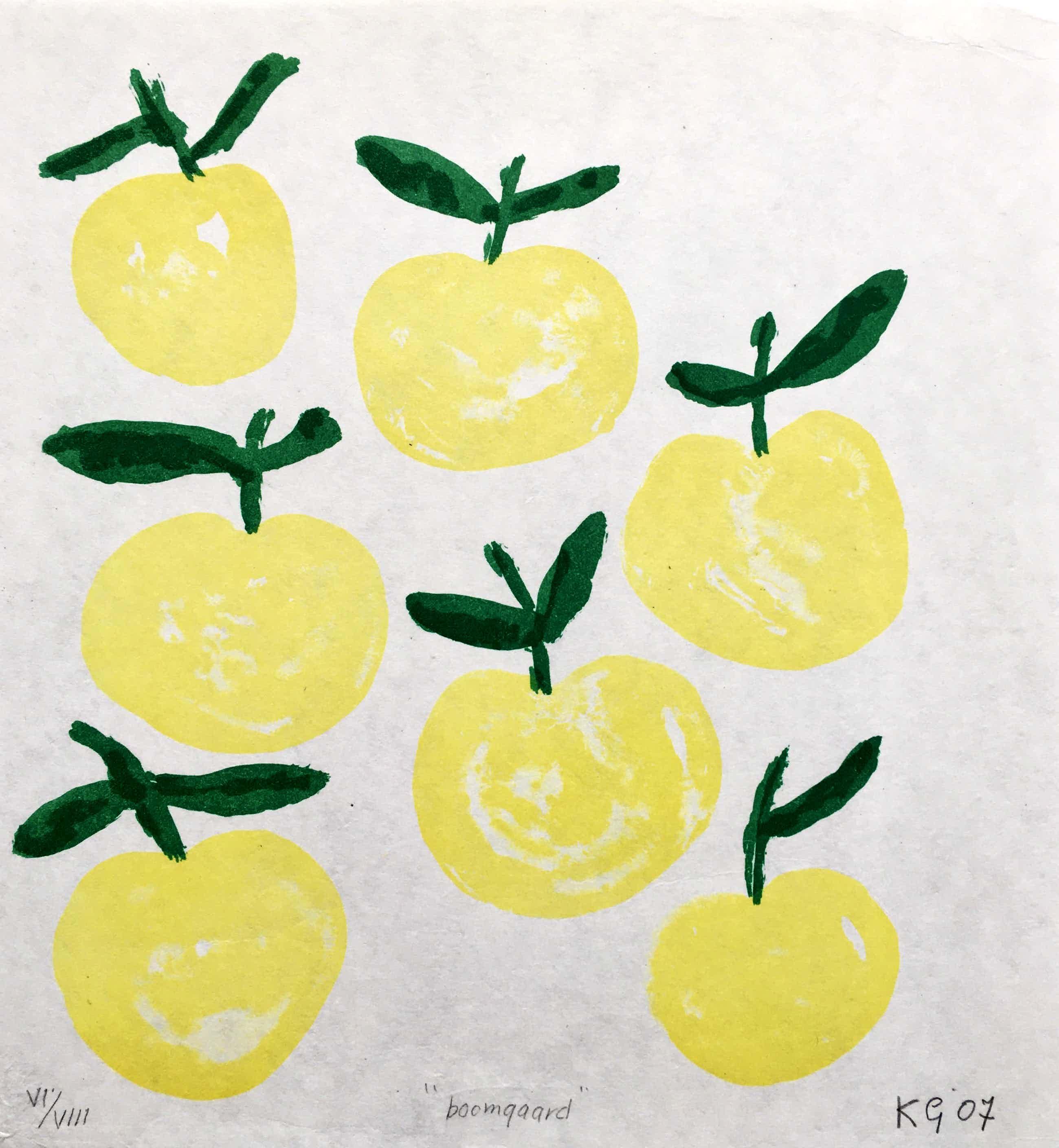 Klaas Gubbels - litho op handgeschept papier 'Boomgaard' - 2007 - oplage VIII kopen? Bied vanaf 175!
