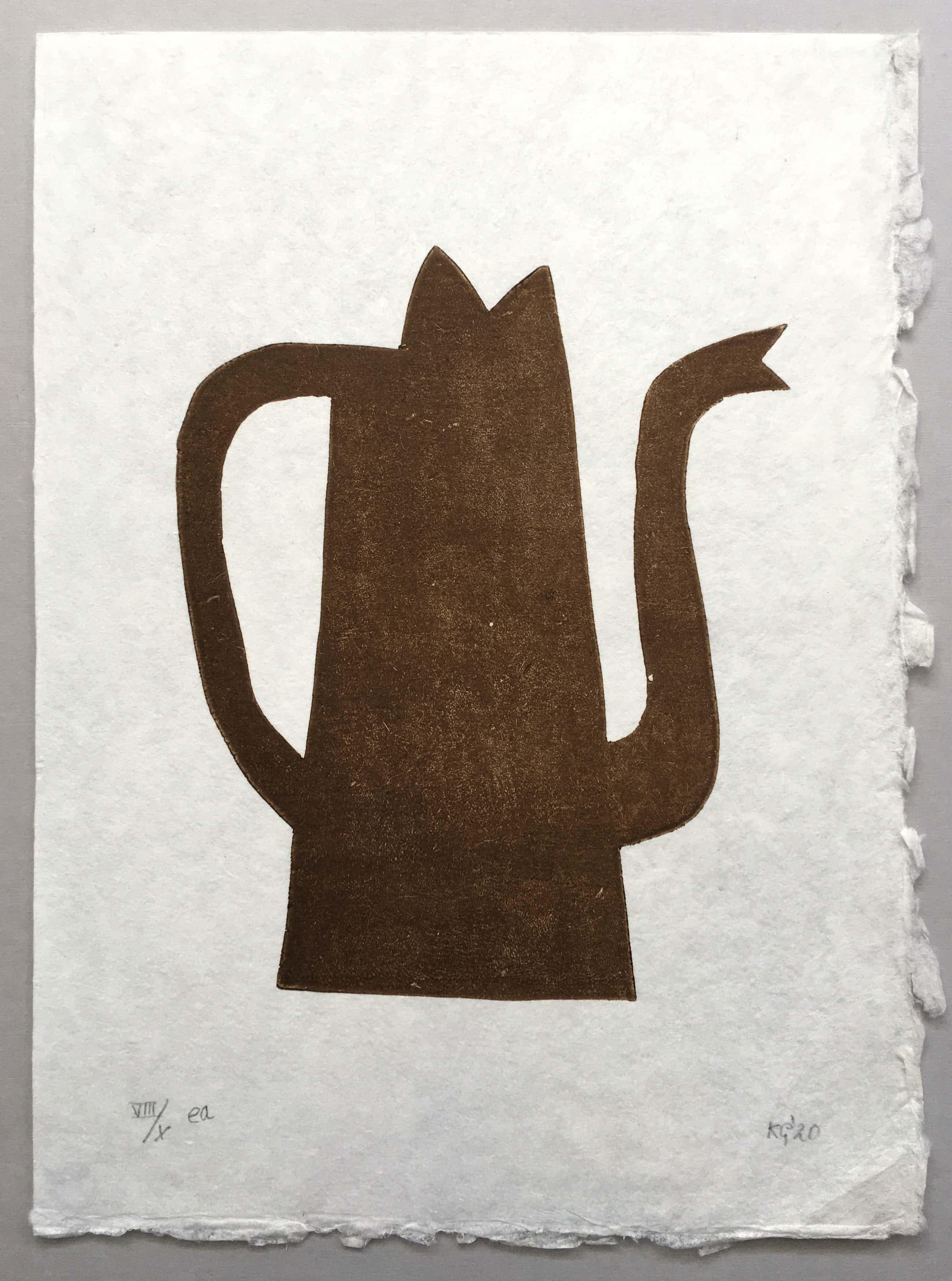 Klaas Gubbels - houtdruk op geschept papier - 'Napels' - 2020 kopen? Bied vanaf 275!