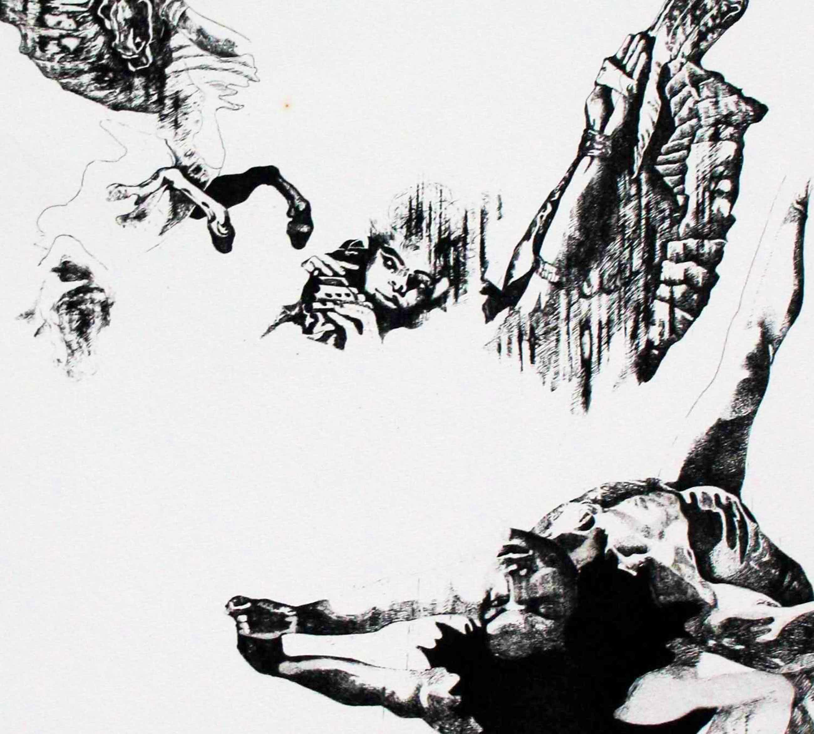 Gerti Bierenbroodspot - Ets: Gevallen engel - 1973 kopen? Bied vanaf 75!