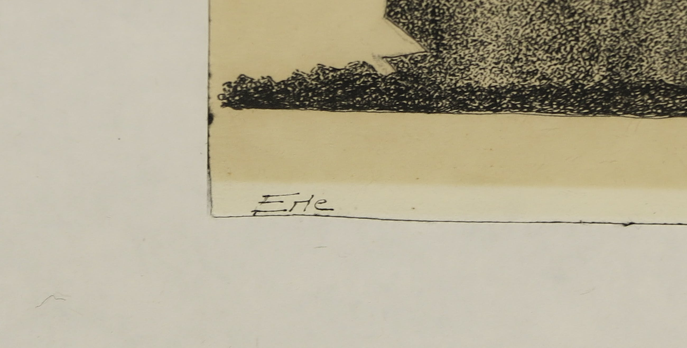 Niet of onleesbaar gesigneerd - Pentekening, Z.T. Slapend figuur - Ingelijst kopen? Bied vanaf 1!