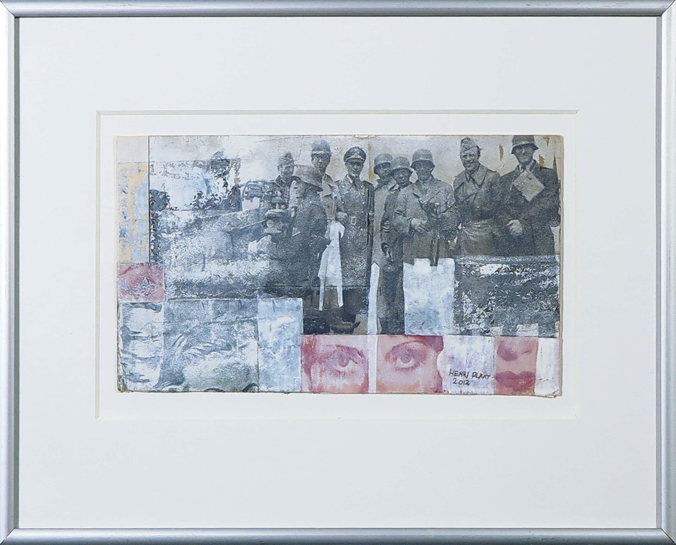 Henri Plaat - Gouache en collage, Zonder titel kopen? Bied vanaf 70!