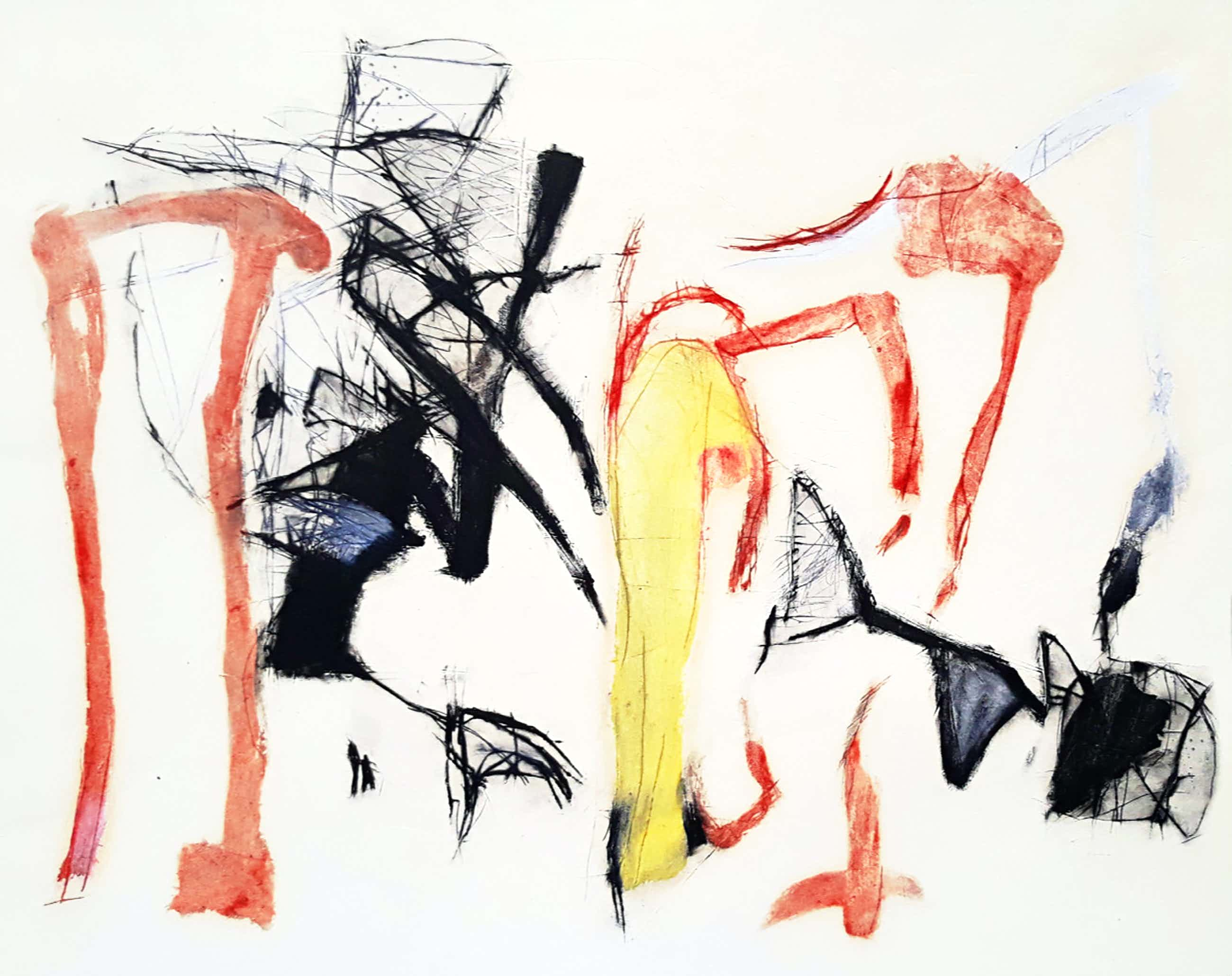 Gerdi Bouws - Abstracte compositie, aquatint ets kopen? Bied vanaf 50!