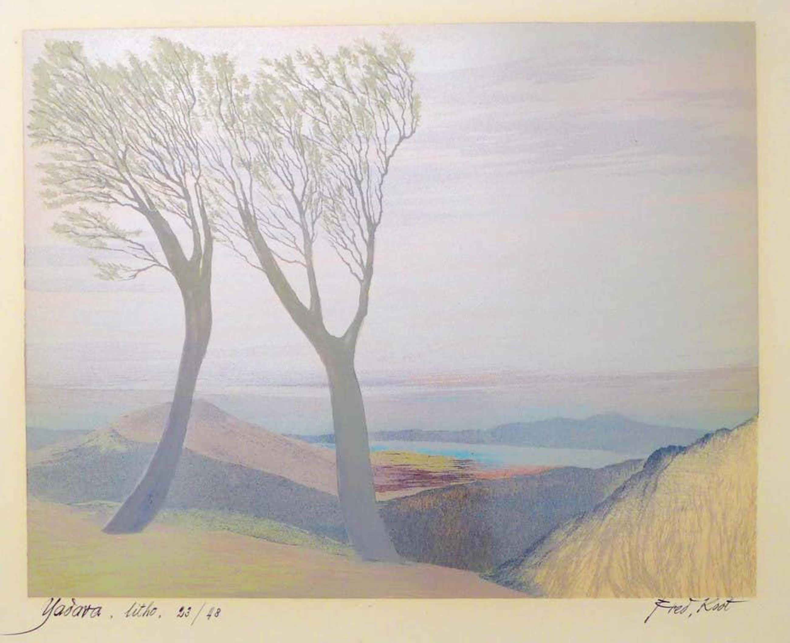 Fred Koot - Fred Koot, litho, titel Yadava. oplage 23/48 beeldformaat 34.7 x 44.3 cm. kopen? Bied vanaf 50!