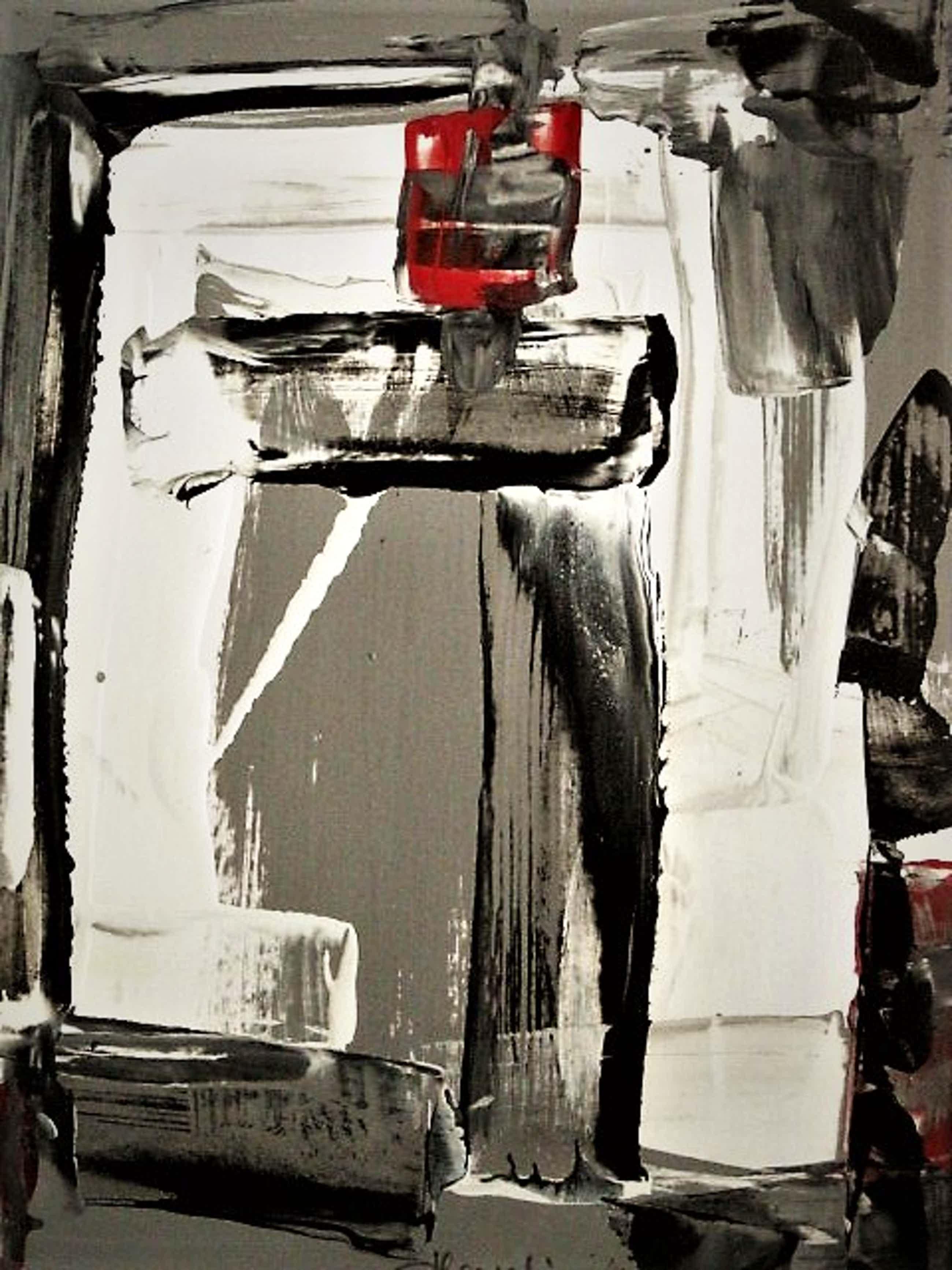 Henk Hesselius - Krachtige olieverf op papier - Abstract - CoBrA - gesigneerd kopen? Bied vanaf 80!
