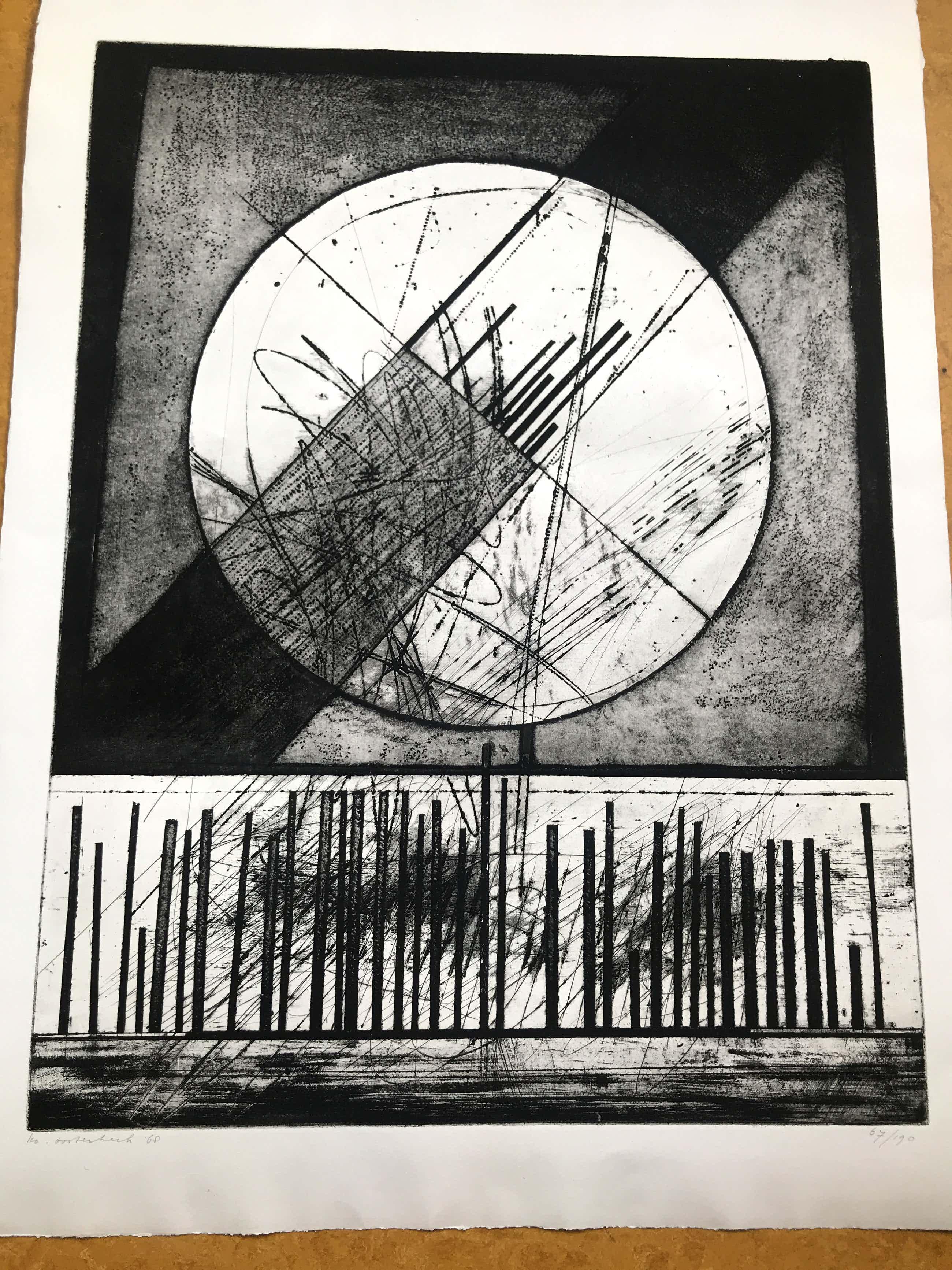 Ko Oosterkerk - abstracte vormen kopen? Bied vanaf 50!