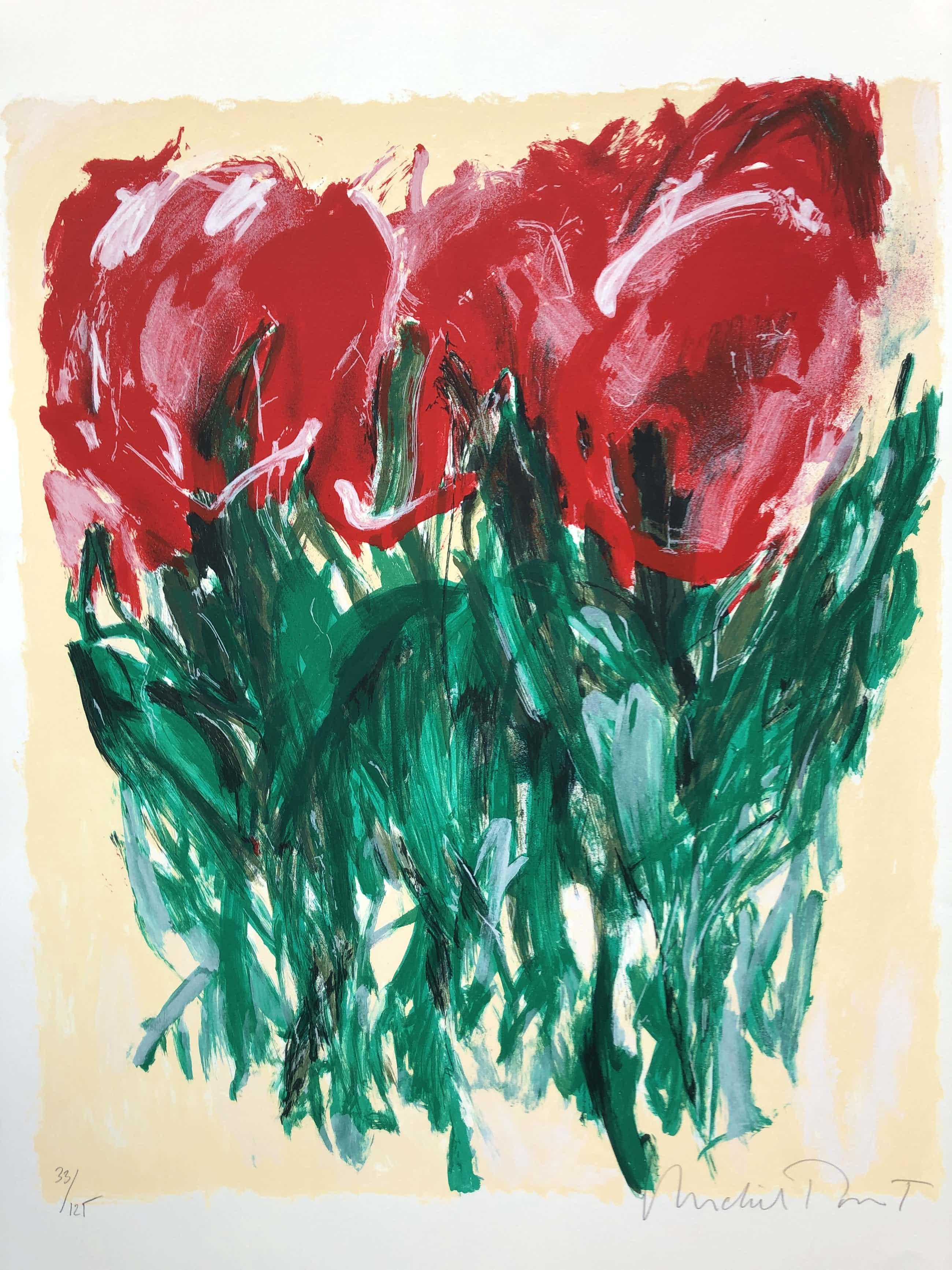 Michel Poort - Tulpen in rood kopen? Bied vanaf 55!