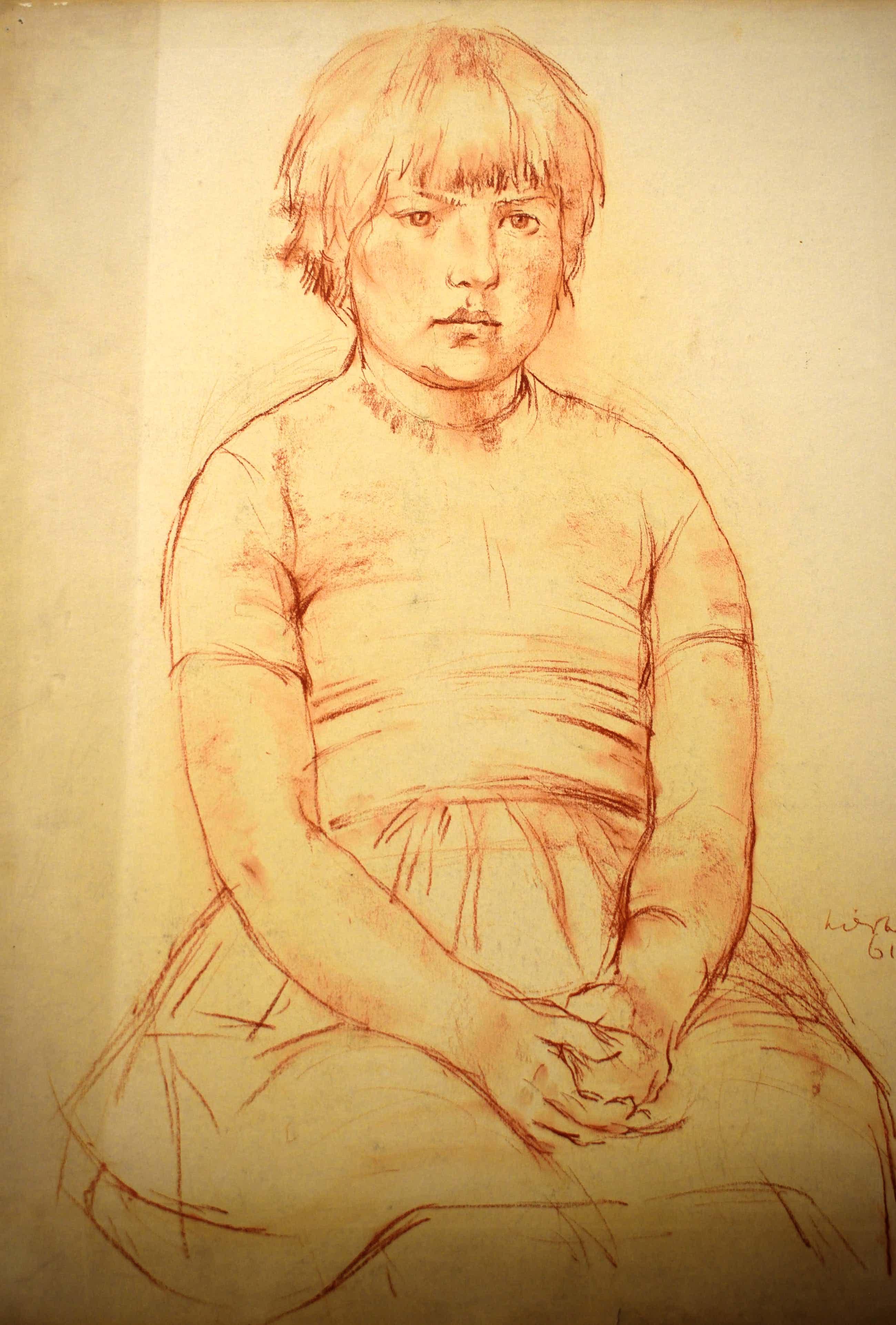 Joop Liesker - Portret van een jong meisje kopen? Bied vanaf 80!