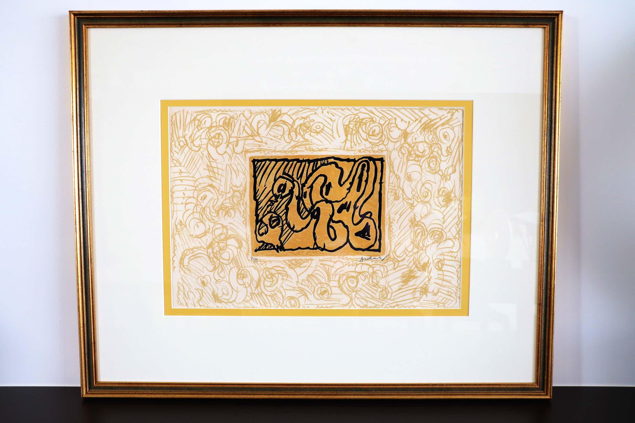"Pierre Alechinsky - Kleurenlithografie ""Lino-Litho"" 1970 kopen? Bied vanaf 565!"