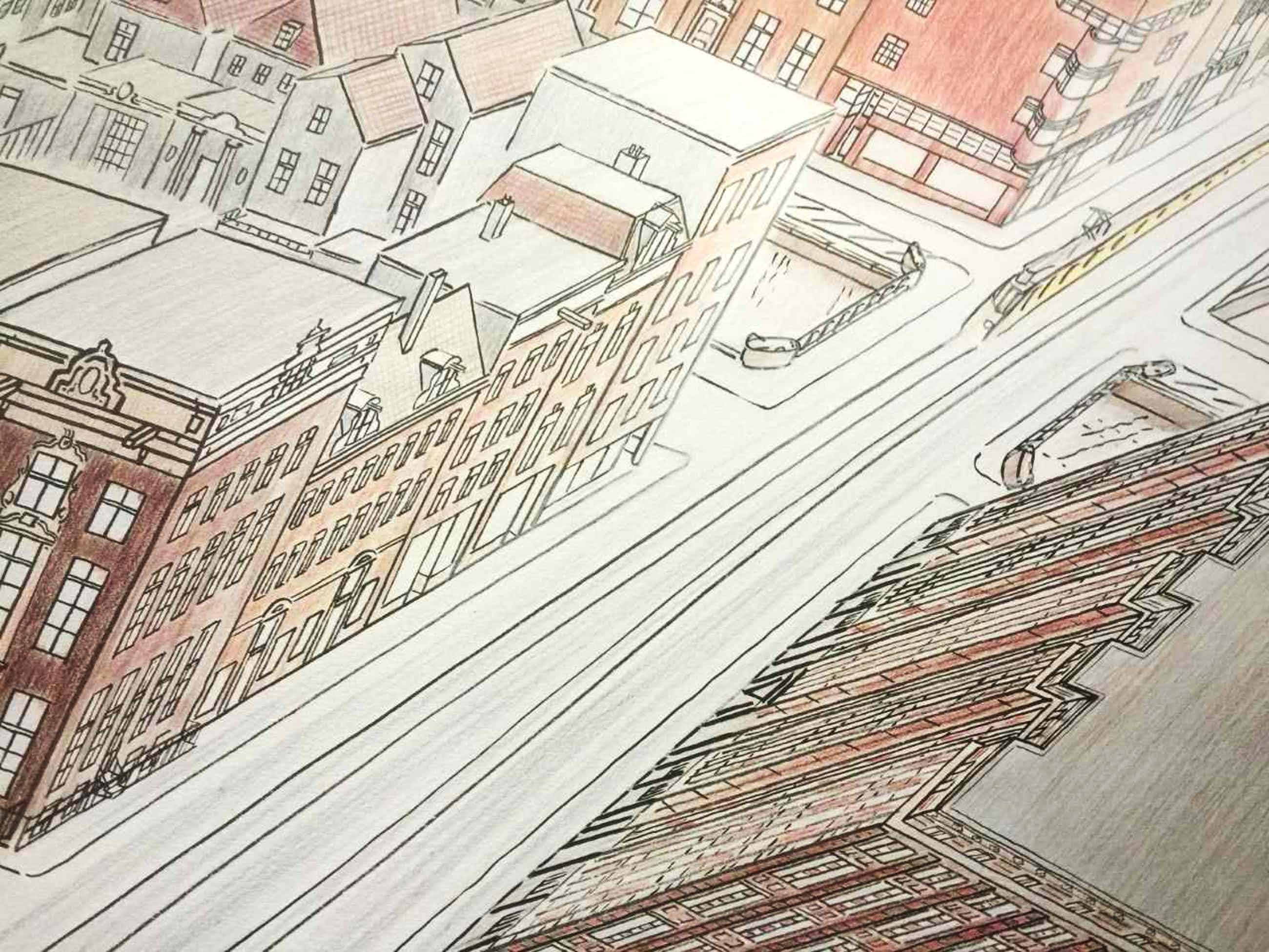 Jeroen Henneman - Vijzelstraat - litho uit 1989 kopen? Bied vanaf 135!