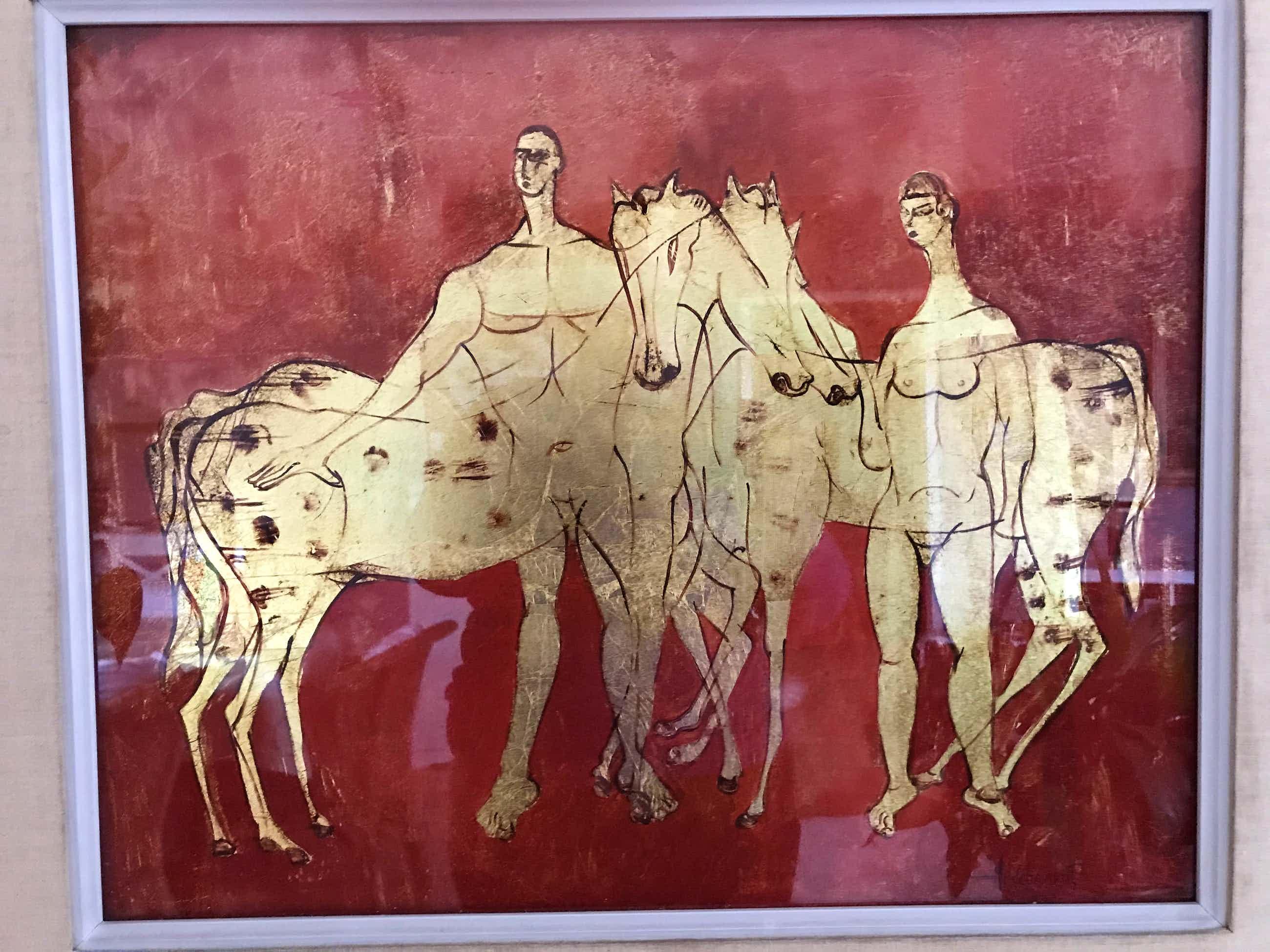 Bert Hildebrandt - schilderij met blad goud kopen? Bied vanaf 200!