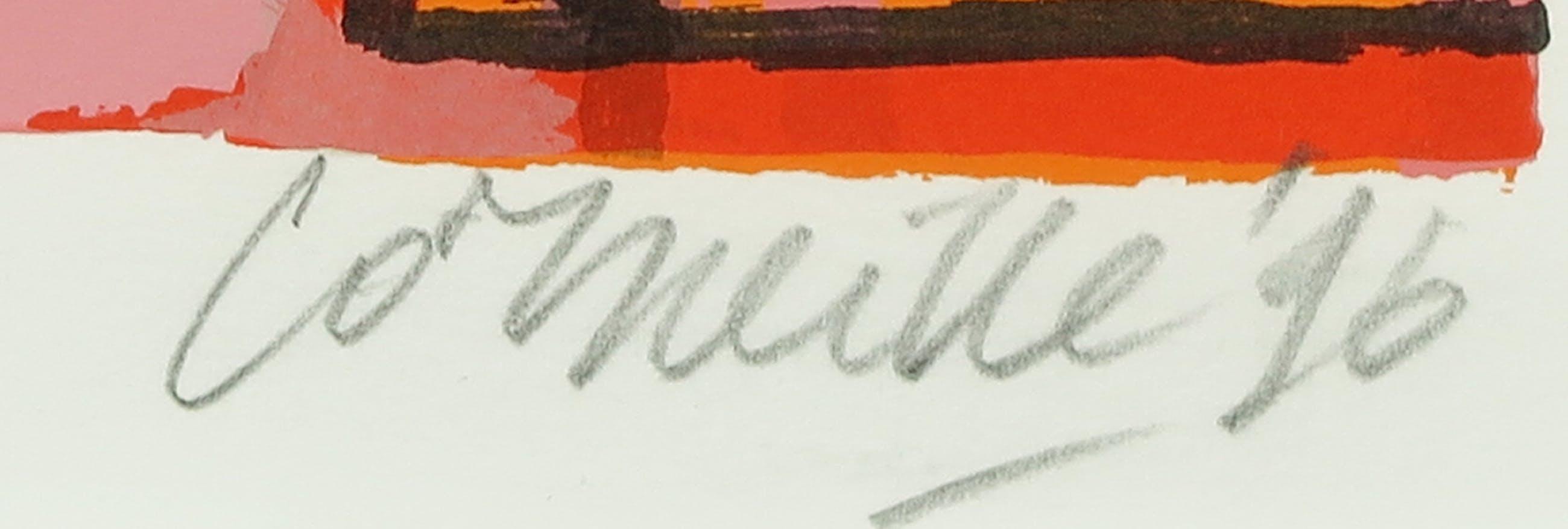 Corneille - Zeefdruk, Femme Orange et L'oiseau Jaune - Ingelijst kopen? Bied vanaf 150!