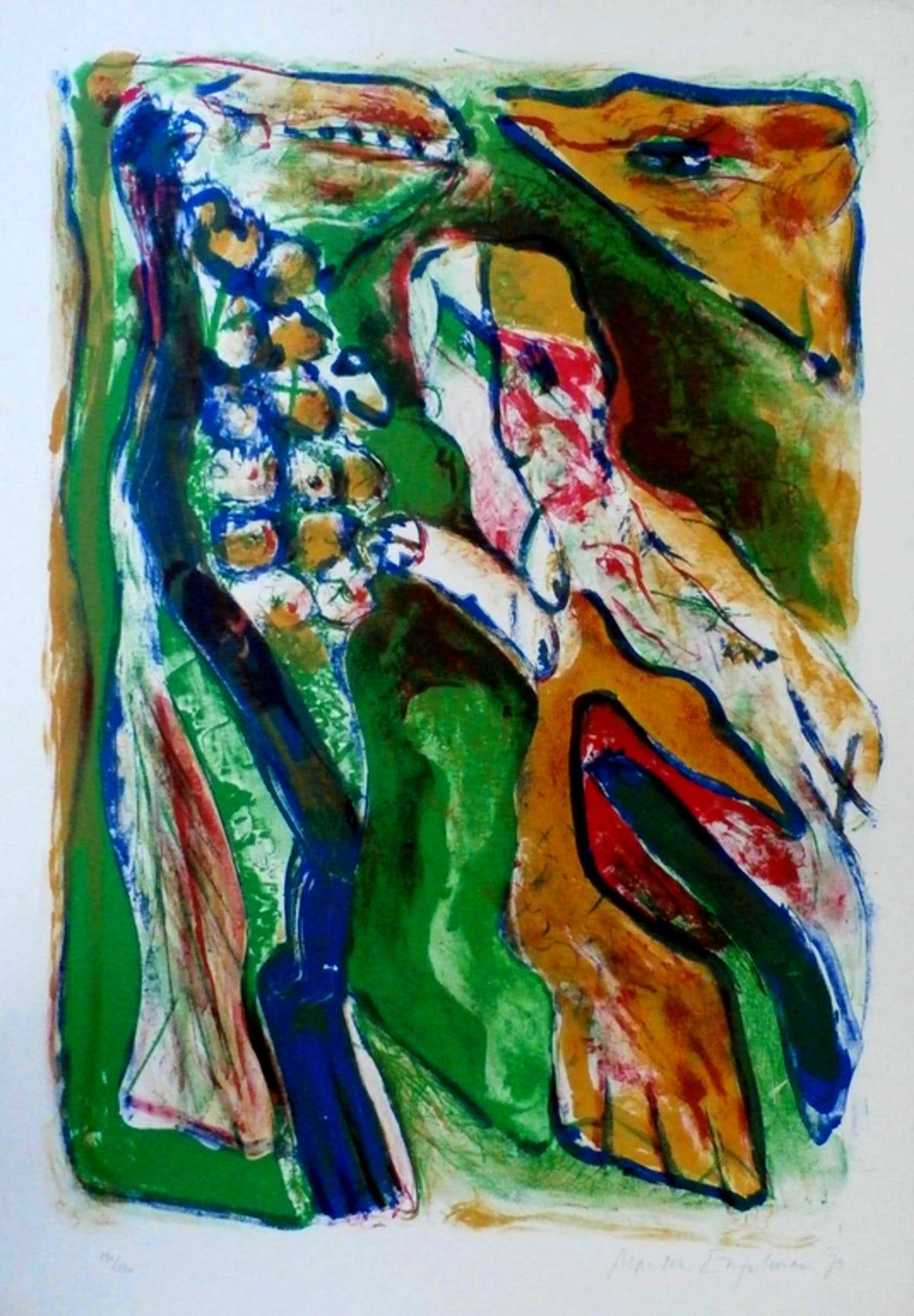Martin Engelman - Kleurenlitho: 'Rendez-vous Au Jardin Zoologique' - 1973 kopen? Bied vanaf 45!