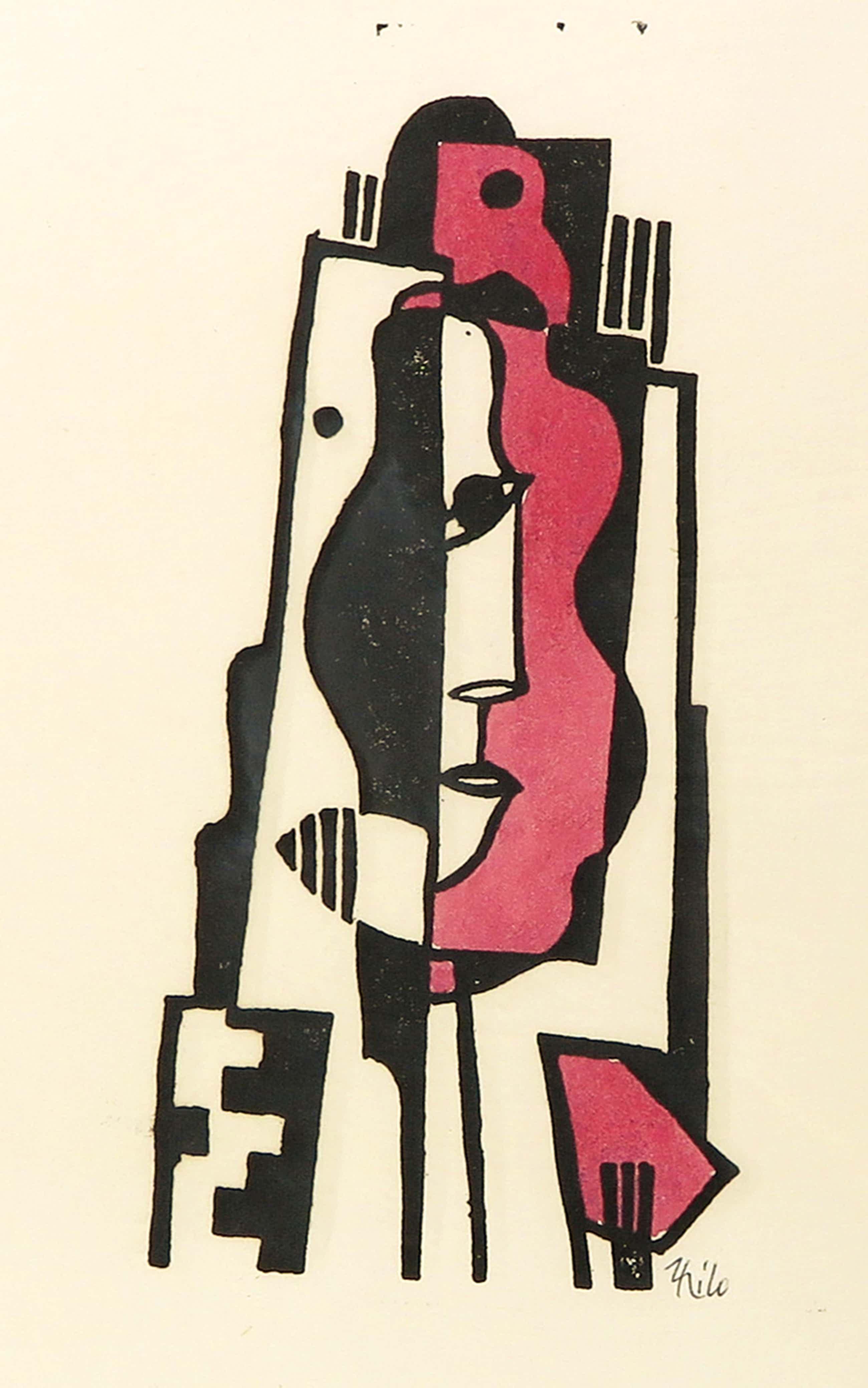 Thilo Maatsch - Houtsnede, Abstracte compositie - Ingelijst kopen? Bied vanaf 50!